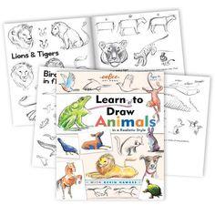 Artbook, lær at tegne dyr - for børn fra 7 år