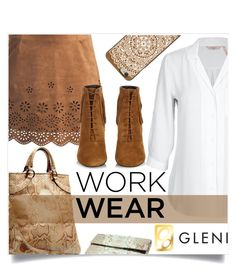 """""""Work Wear"""" by captainsilly ❤ liked on Polyvore featuring Sans Souci, Yves Saint Laurent and Casetify"""