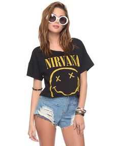 The 90's grunge is back. Cropped Nirvana Tee at Forever 21