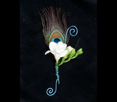 Image result for peacock corsage