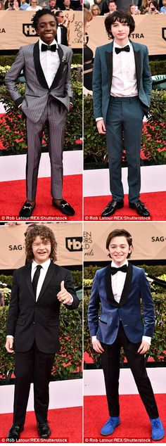 The Stranger Things kids at the 2017 SAG awards