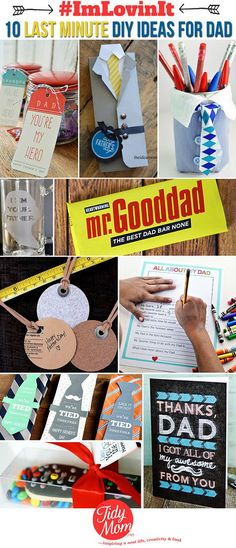 10 last minute DIY Ideas for Dad -- Father's Day gift ideas at TidyMom.net