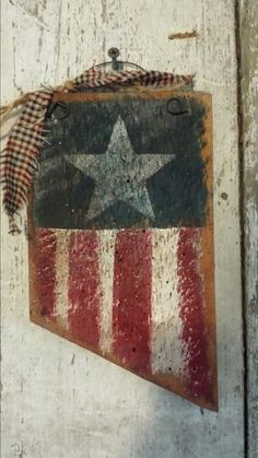 Primitive USA Flag Pendent SignStars And StripsPatrioticRustic FlagBarn Board FlagWood SignBarn Sign