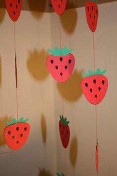 Strawberry Garland Strawberry Festival by TheShabbyScrapper