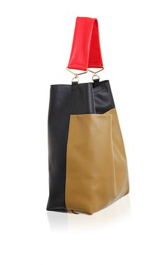 Tri-colored shoulder bag by Marni for Preorder on Moda Operandi