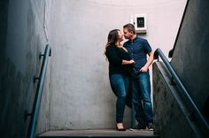 Emma & Dean's engagement photos, in a carpark Moore Street Birmingham | Mustard Yellow Photography