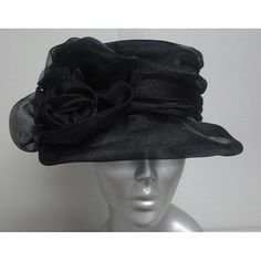 3d209177a76 Shop for Swan Women's Black Organza Flower Packable Church Hat. Get free  delivery at Overstock - Your Online Accessories Outlet Store!