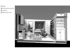 Un studio organisé autour d'un cube