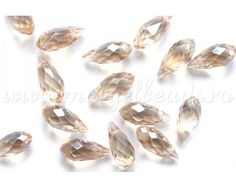 Brown Electroplated Glass Beads 12x6mm - www.margelbeads.com