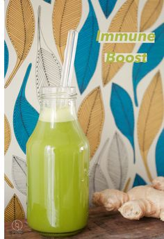 Immune Booster, Juice / Smoothie Glass Straw