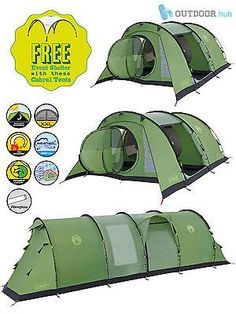 Coleman Cabral Tent 4 5 6 Man Family Tunnel Camping Tent Event Shelter Gazebo in Sporting Goods, Camping & Hiking, Tents & Canopies | eBay