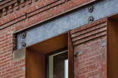Corten steel floating window boxes.#design #CortenSteel #architecture #windows