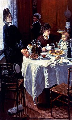 The Luncheon by Claude Monet (1868). A most charming painting, wouldn't you agree?