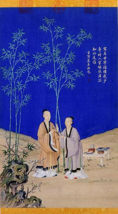 Springs Peaceful Message, circa 1736, by Giuseppe Castiglione (Chinese name Lang Shining, 1688—1766). Hanging scroll, ink and colour on silk. The Palace Museum, Beijing. Wikimedia.