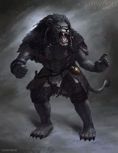 """Grimwood Character Concept Illustration 2 by Cloister on deviantART Reminds me of a Khajiit. Or a werepanther. So, he's either saying """"Move and I rip out your throat"""", or """"Wait until your mother gets home!"""""""