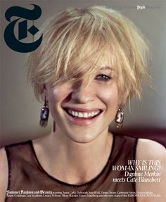 Cate Blanchett rocking a grin on a magazine cover = awesome