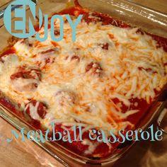 "Working on My Forever: ""Meat""ball Casserole! Ww Recipes, Steak Recipes, Meatball Recipes, Meatball Subs, Meatball Casserole, Green Salad Recipes, Best Meat, Breakfast Lunch Dinner, Balls Recipe"