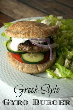 Greek Style Gyro Burger Recipe