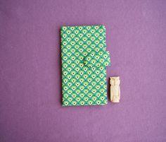 Turquoise Paisley Fish eye Wallet Case Large / от RabbitLia