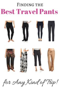 The Best Travel Pants for Any Kind of Trip - Read our guide to the best travel pants! We've listed our top picks for travel pants women need for any trip as well as the best mens' travel pants too. Best Travel Pants, Best Travel Clothes, Travel Clothes Women, Travel Tips, Travel Packing, Travel Europe, Travel Hacks, Travel Advice, Best Shoes For Travel