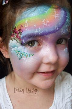 Rainbow, Stars Fairy Tale - Daizy Design face painting