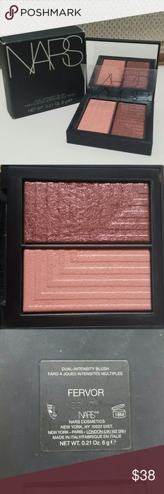 Nars Dual Intensity Blush Shade is Fervor. Blush is pre loved but has been sanitized with Beauty So Clean.   No trades.   Please submit any offers through the offer option. Sephora Makeup Blush