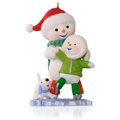 Home For The Holidays - Chillin' Together Snowman Ice-Skating Ornament | Hallmark Keepsake Ornament Collection 2015