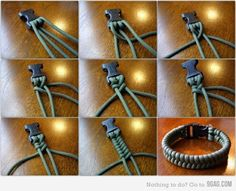 DIY bracelet - but could also be great pet collar. For my dog's collar, I'm going to grab an old collar that isn't worn anymore  cut off the clasp. Then I'm all set to start braiding away.