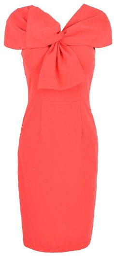 'Kate' Coral Twist Front Capsleeve Stretch Crepe Pencil Dress Women's Fashion: My Style Would love to see this dress in a lot of different solid colors. Very feminine. Dress Vestidos, Mode Chic, Coral Dress, Play Dress, Dress Me Up, Sexy Bikini, Pretty Dresses, Passion For Fashion, Dress To Impress