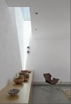 Skylight 'highlighted' by the corner ceiling