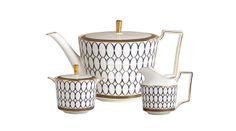 Set 3 Piese Ceai Wedgwood Renaissance   #accesoriiceaiportelan #portelanenglezesc #ceainic #cadouridelux #cadourispeciale #cadourifemei Watering Can, Wedgwood, Renaissance, Tea Pots, Sweet Home, Canning, Tableware, Gold, Interiors
