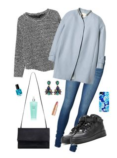 """Snow mint"" by deserwina ❤ liked on Polyvore featuring Vero Moda, Monki, Rebecca Taylor, NIKE, Zimmermann, Isaac Mizrahi, Victoria's Secret and Charlotte Tilbury"