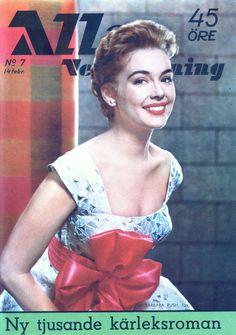 Barbara Rush - Allas Veckotidning Magazine Cover [Sweden] (14 February 1958)