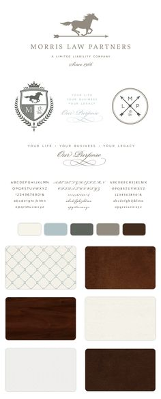 Classic, classy, and masculine, all at the same time. This branding design is wonderful! Morris Law Partners, LLC Branding • Braizen Branding & Design