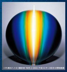 三代徳田八十吉《耀彩壺「恒河」》 2003(平成15)年 小松市立博物館蔵