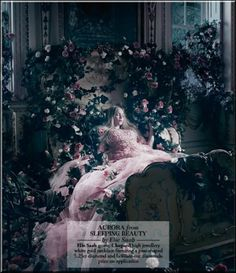 Harrods Disney princess photo shoot - Sleeping Beauty, Aurora