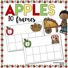 Apples! This 10 frame freebie is great for math centers this fall. What's Included: Numbers 1-10 in color and B&W Students will practice number recognition and 1:1 correspondence. *************************************************************************** Here are some of my other