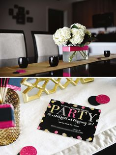 Glam Favorite Things Party {30th Birthday} LOVE this!  Wine theme!  Nice and classy!
