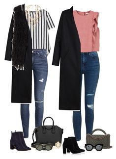 """Out"" by audrey-balt ❤ liked on Polyvore featuring Topshop, MANGO, H&M, Maje, Yves Saint Laurent, Erickson Beamon, Non, Givenchy, Chanel and Victoria Beckham"