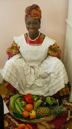 outfit worn by market vendors and cake makers in Antigua and Barbuda as far back as 1834