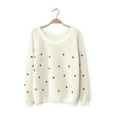Peach casual long-sleeved sweater loose sweater large size women - Sweaters