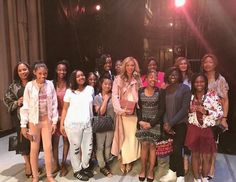 Beyoncé & Ms. Tina, Tina's Angels, visit the dancers of Alvin Ailey American Dance Theater at The Music Center: Dorothy Chandler Pavilion in Los Angeles. March 11, 2017