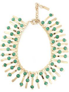 ETRO structured green jewel necklace on Vein- getvein.com