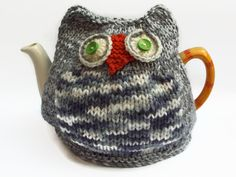 owl  tea cozy hand knitted tea cosy by TWINKKNITS on Etsy, £18.00