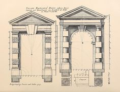 Designs for Tuscan Rusticated Doors