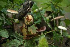 Pendentif papillon conservée en résine poche montre cadre steampunk charm Necklace