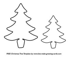 A large and small Christmas tree template.