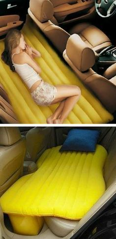 Inflatable car bed // Takes road trip to a whole new level… NEED!!!!