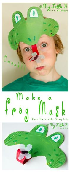 Make a curly tongued, fly catching Paper Plate Frog Mask, perfect for Spring and Summer frog craft and play activity for kids. Paper Plate Art, Paper Plate Crafts, Paper Plates, Mardi Gras, Preschool Crafts, Crafts For Kids, Diy Image, Frog Mask, Craft Activities