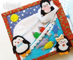 Новогодняя мини-книжечка с пингви..